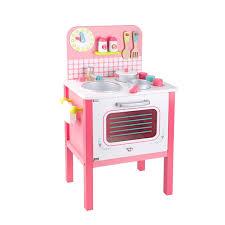 Mini Cozinha de Madeira Rosa - Tooky Toy