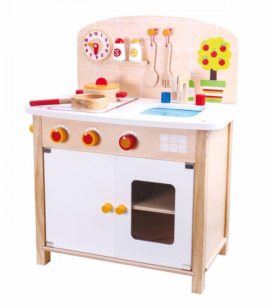 Mini Cozinha de Madeira  - Tooky Toy