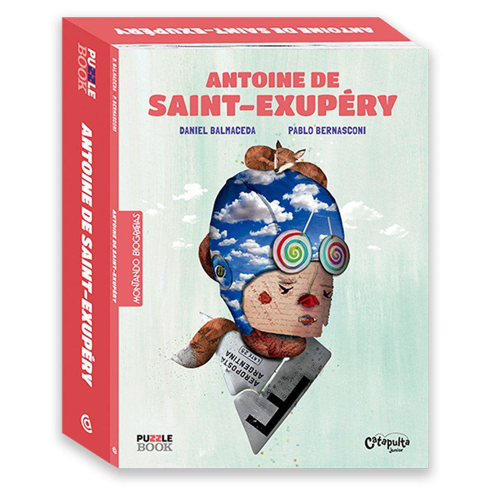 Montando Biografias: Livro e quebra cabeças de Antoine de Saint- Exupery