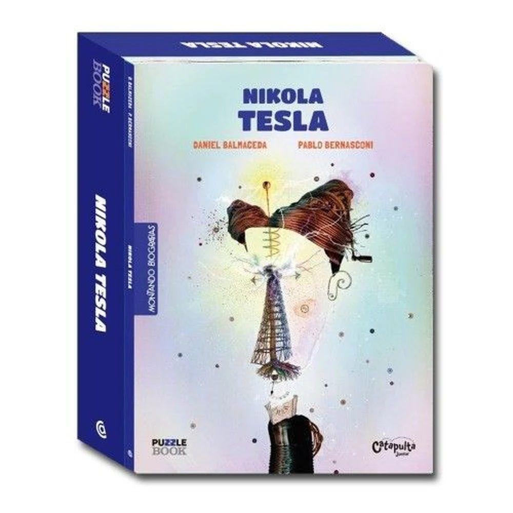 Montando Biografias: Livro e quebra cabeças de Nikola Tesla