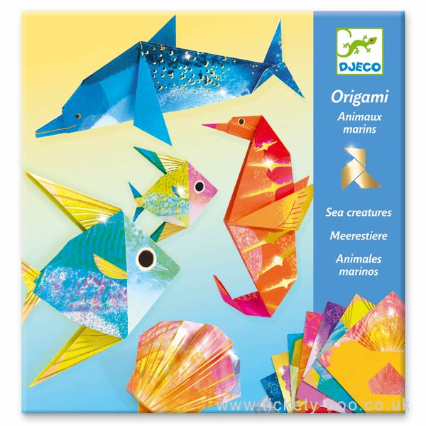 Origami Dobradura Djeco - Animais Marinhos