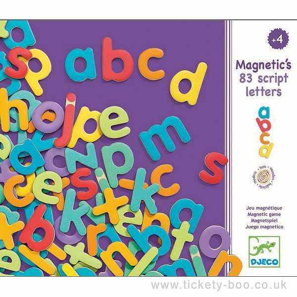 Imãs de Madeira - Alfabeto 83 letras de imprensa