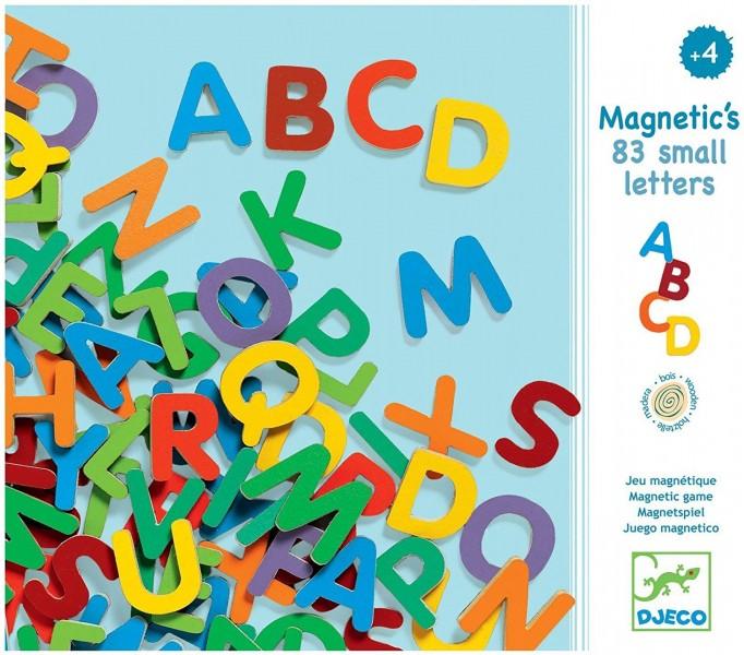 Imãs de Madeira - Alfabeto 83 letras pequenas