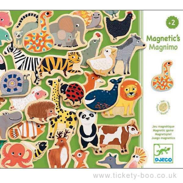 Peças Magnéticas de Madeira Animais - Magnimo