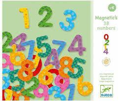 Peças Magnéticas de Madeira -  Números e sinais