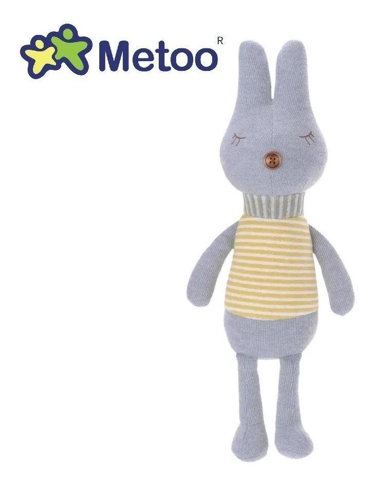 Pelúcia Metoo Coelho Thumb Retrô Listras Cinza - 82cm