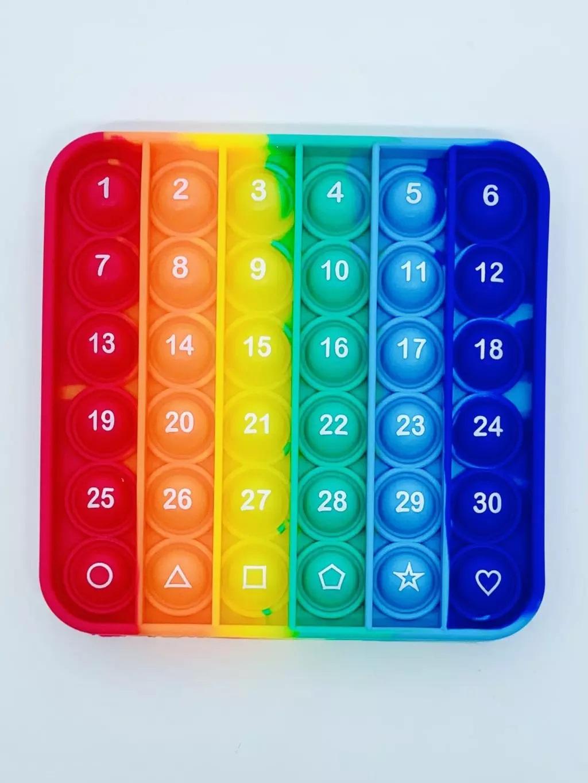 Placas de Bolhas Coloridas/ Fidget Toys - Números