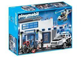 Playmobil City Action - Posto de Polícia com Helicoptero