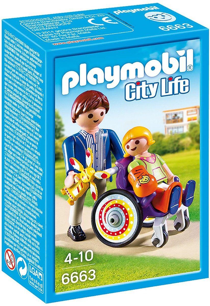 Playmobil City Life  - Criança na cadeira de rodas