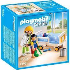 Playmobil City Life - Pediatra com criança e leito