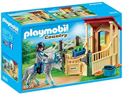 Playmobil Country - Cavalo Apaloosa com estábulo
