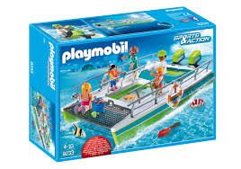 Playmobil Sports racing - Barco com visão submarina e motor
