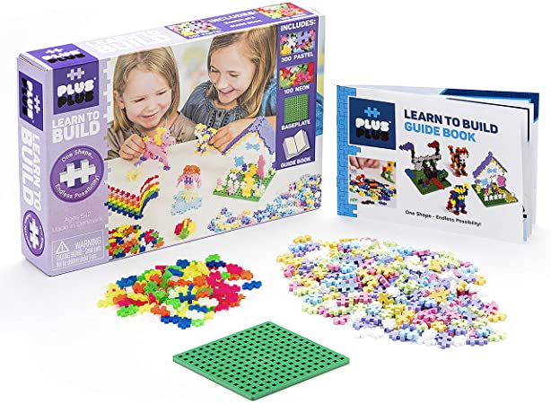 Plus-Plus Mini -  Super Set Aprenda a Construir 600 peças Pastel