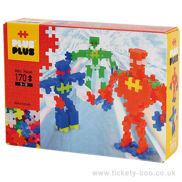 Plus-Plus Mini - Neon Robots 170 peças