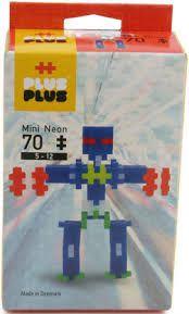 Plus-Plus Mini - Neon Robots 70 peças