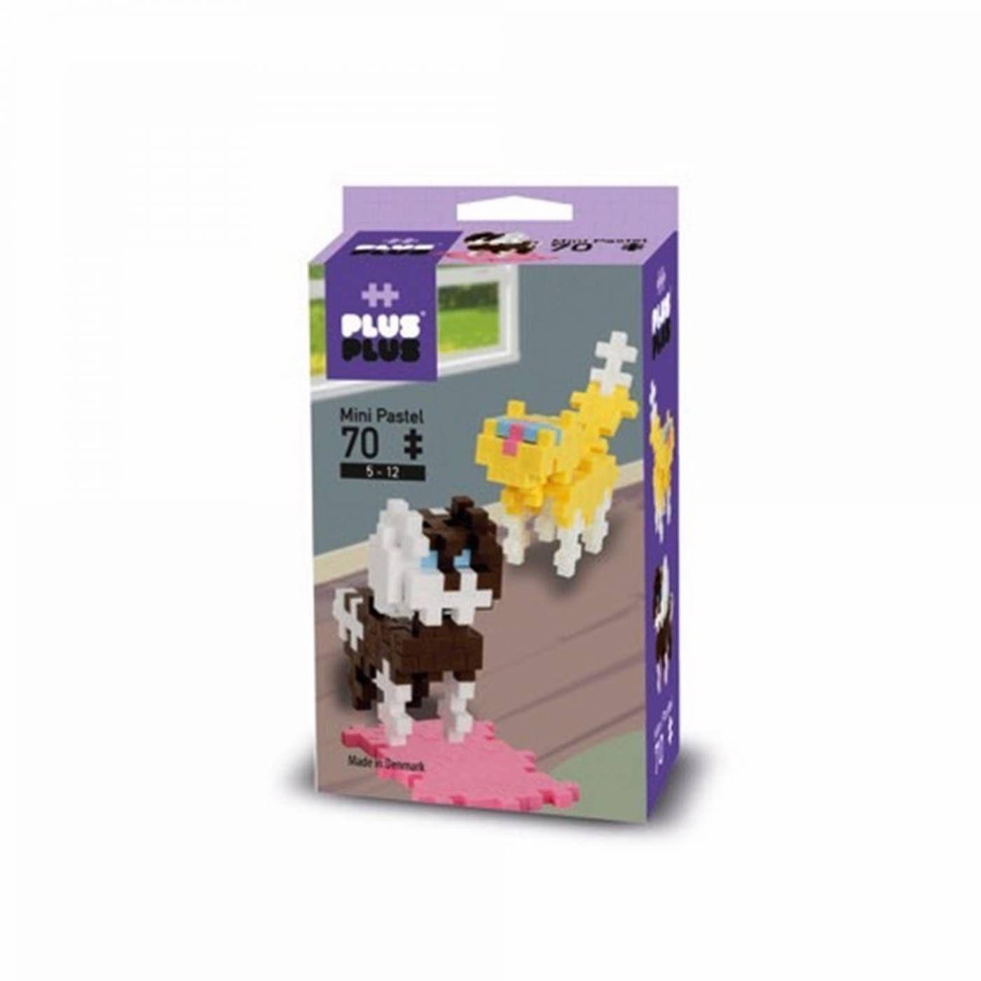Plus-Plus Mini -  Pastel Pets 70 peças