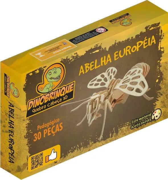 Quebra Cabeça 3D Abelha Européia 33 Peças em MDF