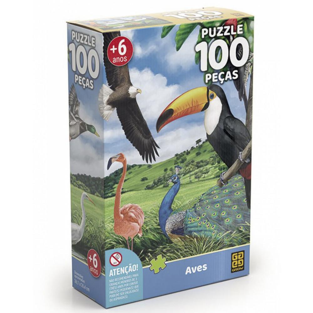 Quebra cabeça Aves - 100 peças