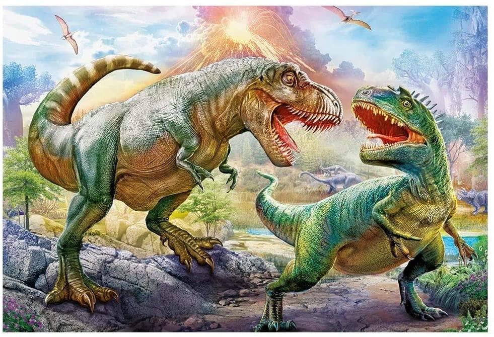 Quebra cabeça Batalha dos Dinossauros - 200 peças