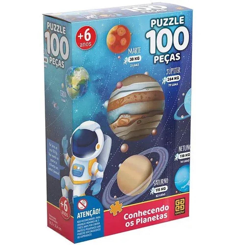 Quebra cabeça Conheçendo os planetas - 100 peças