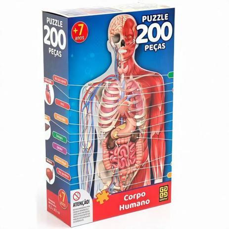 Quebra cabeça Corpo Humano - 200 peças