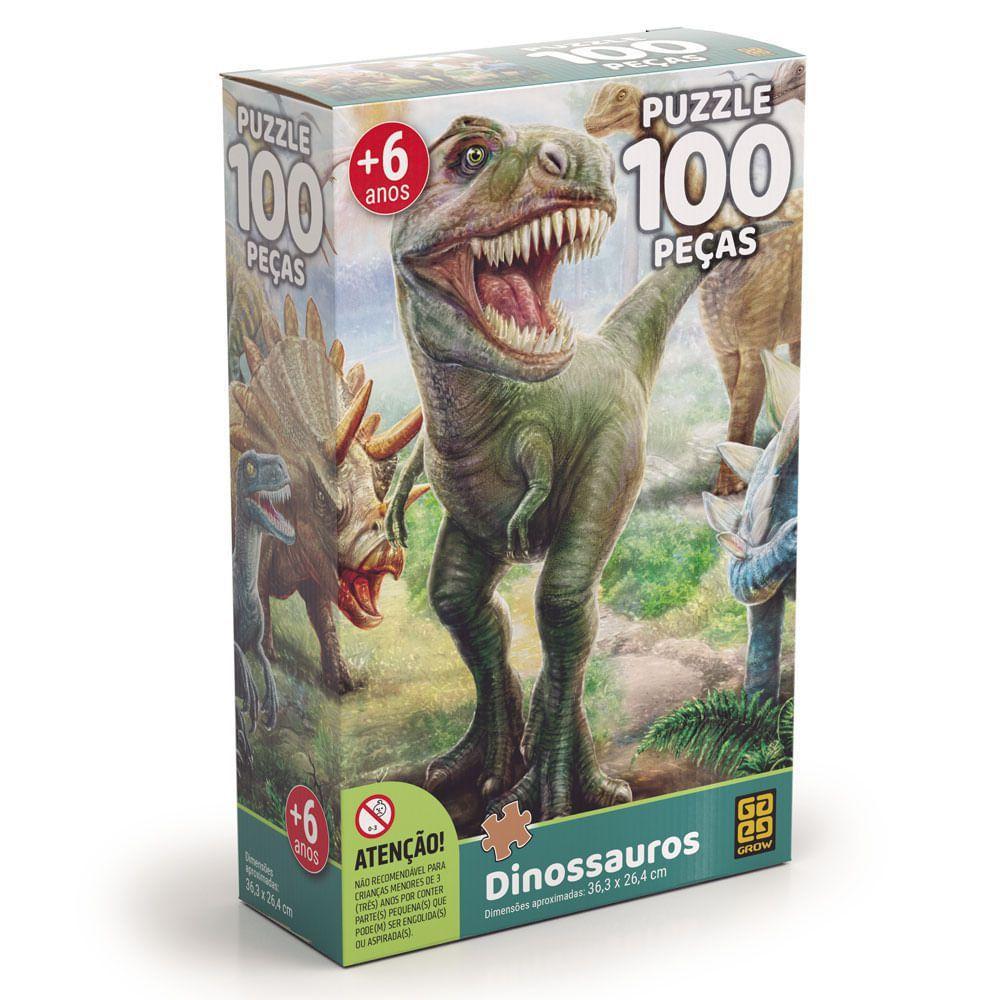 Quebra cabeça Dinossauros - 100 peças