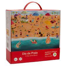 Quebra cabeça Gigante de Chão Dia de Praia (48 peças)