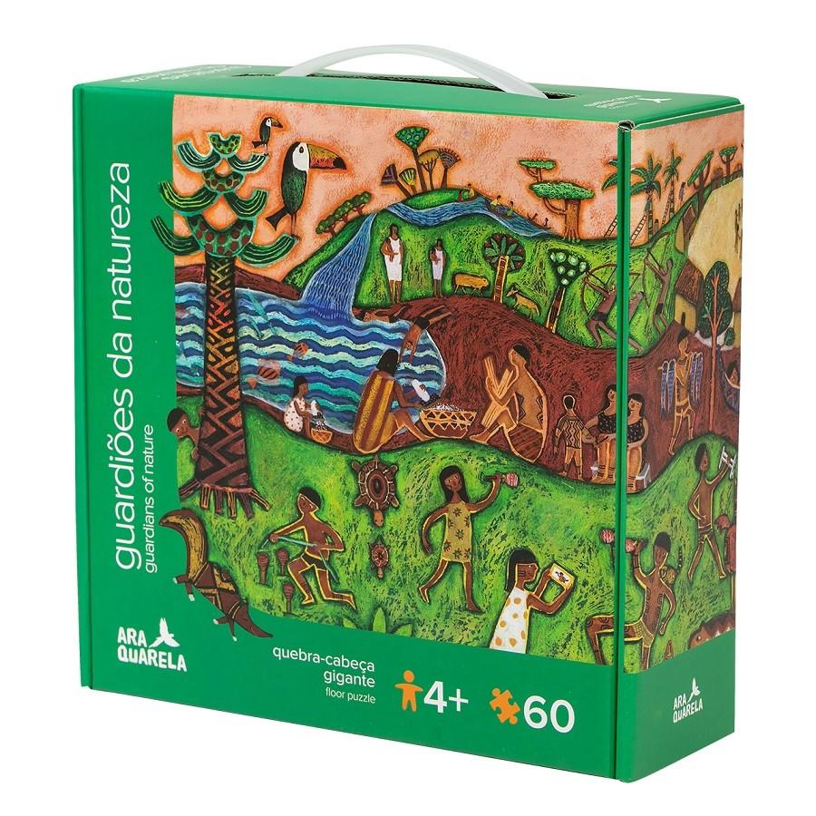 Quebra cabeça Gigante de Chão Guardiões da Natureza (60 peças)