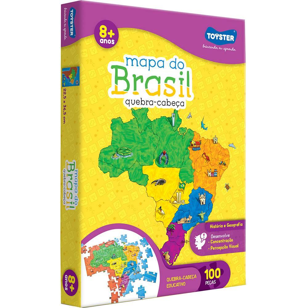 Quebra cabeças 100 peças - Mapa do Brasil