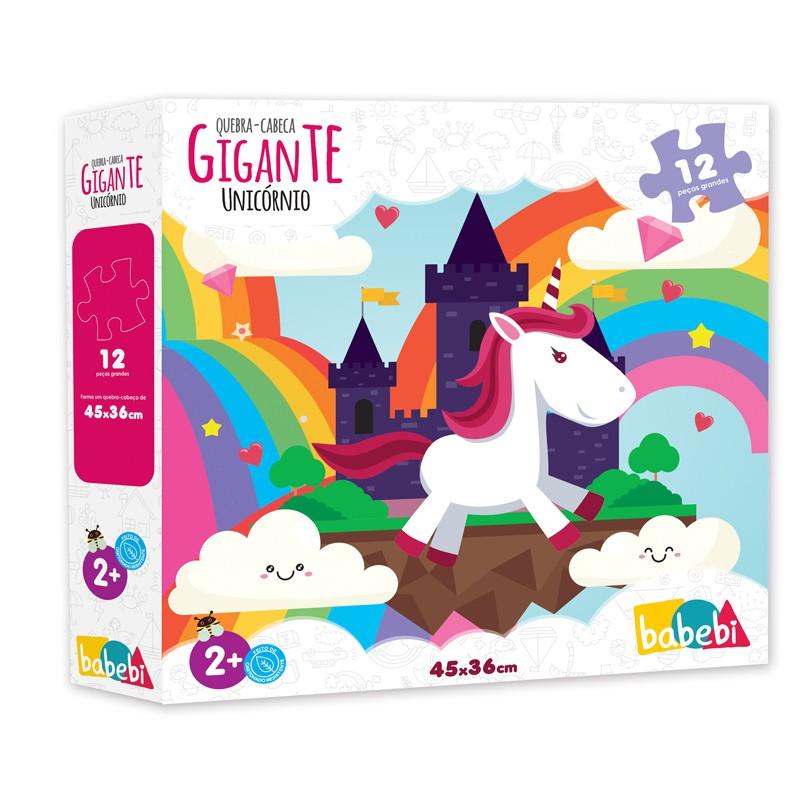 Quebra Cabeças Gigante Unicórnios - 12 peças