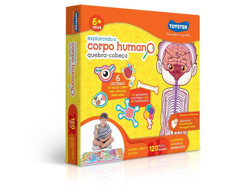 Quebra cabeças Grandão 120 peças - Explorando o Corpo Humano