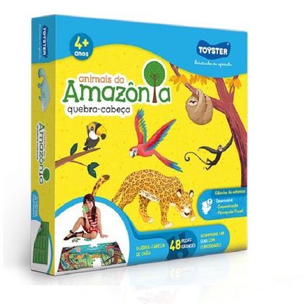 Quebra cabeças Grandão 48 peças - Animais da Amazonia