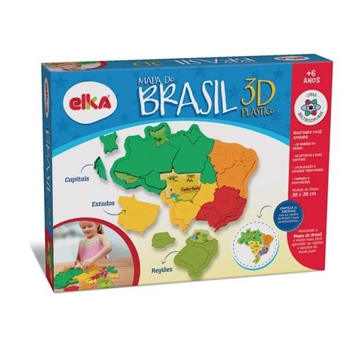 Quebra cabeças Mapa Brasil Plástico