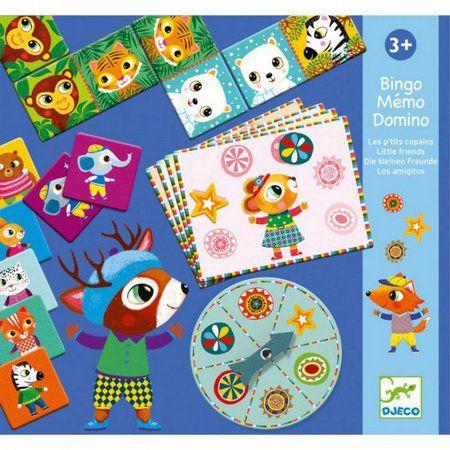 Super Set Bingo, Memória e Dominó - Djeco