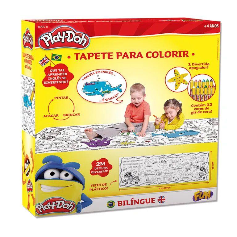 Tapete para Colorir Bilíngue - Play Doh