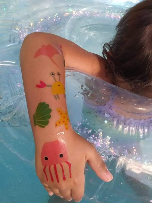 Tatuagem Temporária Fundo do Mar (tatoo)