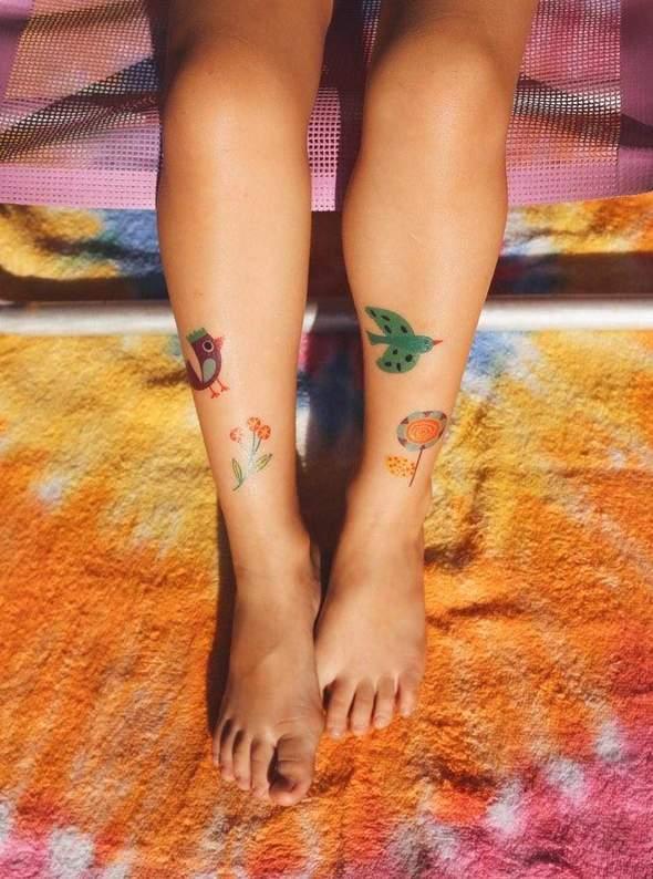 Tatuagem Temporária Pássaros (tatoo)