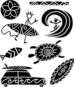 Tatuagem Temporária Praia Tribal Kids