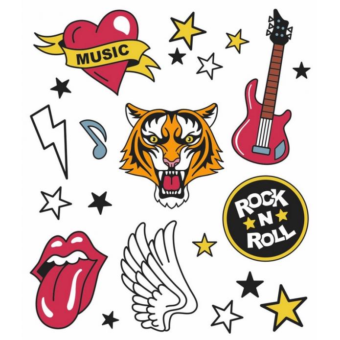 Tatuagem Temporária Rock and Roll