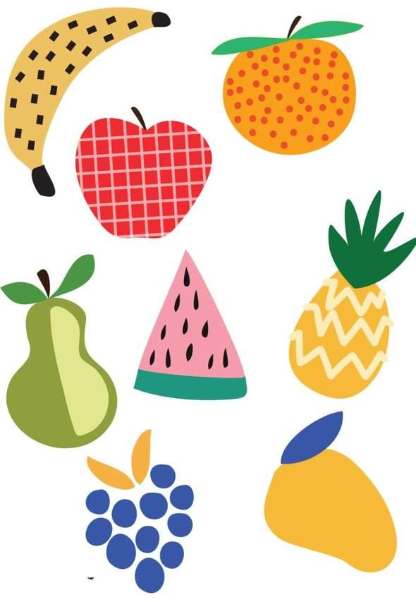 Tatuagem Temporária Salada de Frutas (tattoo)