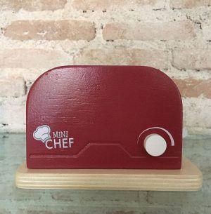 Torradeira Mini Chef  Vermelha retrô - WoodingToys@