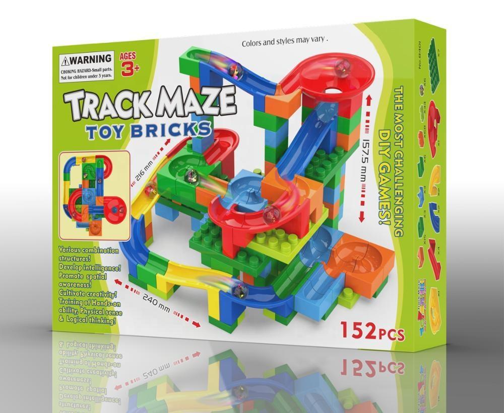 Pista Deslizante com Bolinha -Track Maze - 152 peças