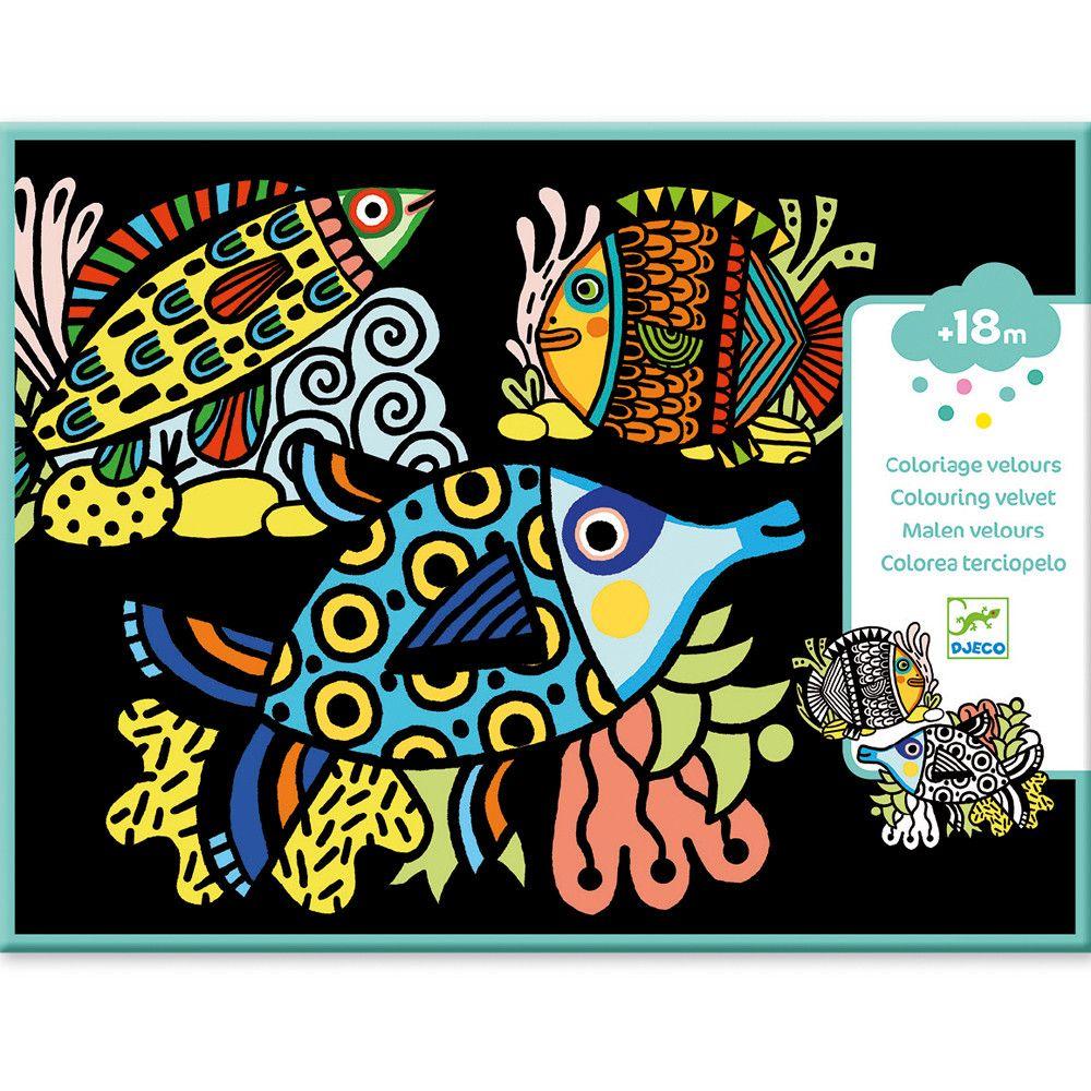 Veludo para colorir Peixinhos - Djeco