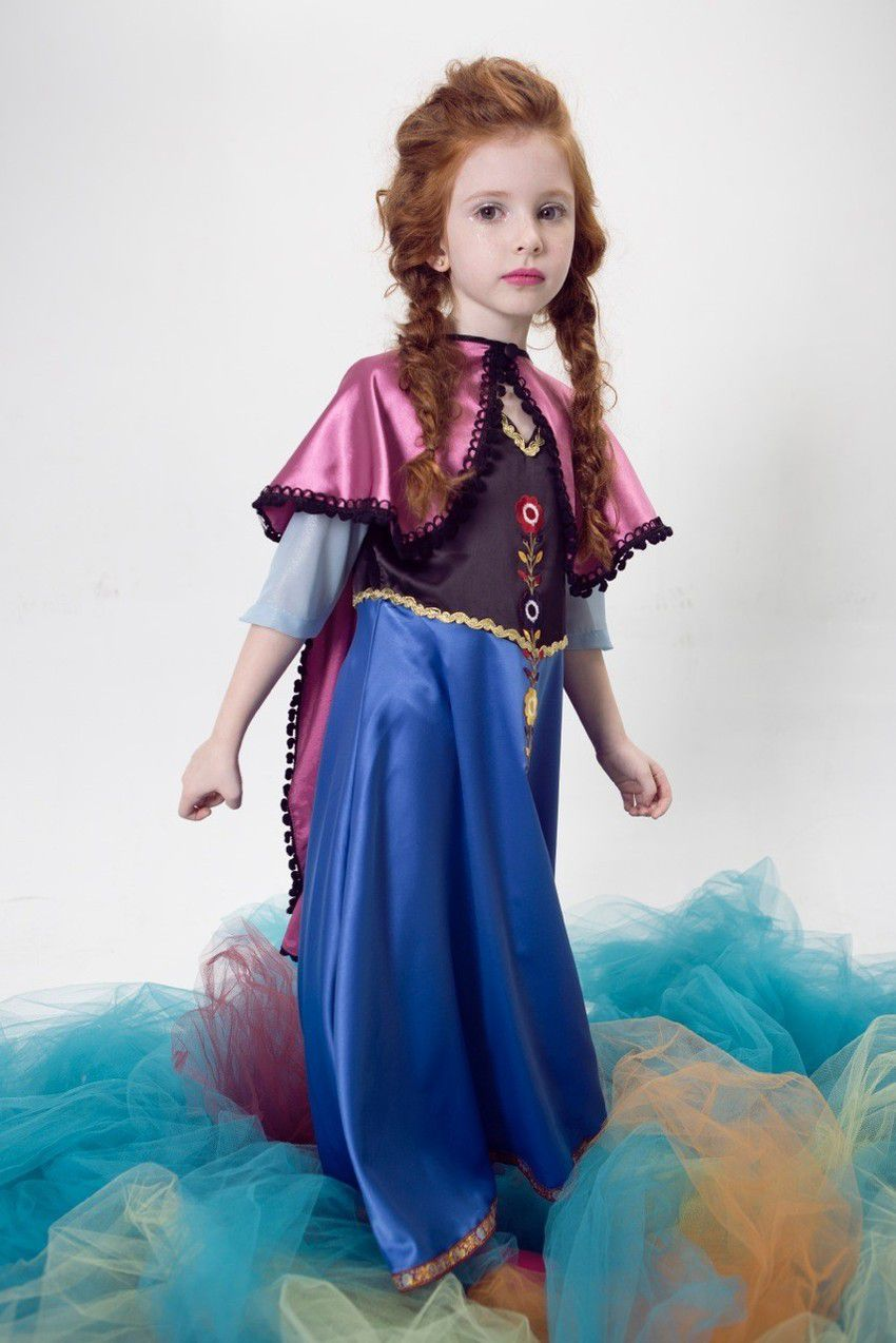 Vestido Princesa Anna (4 a 6 anos)