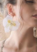 Brinco Orquídea Branca