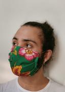 Máscara Floral Verde