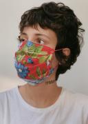 Máscara Flores Azuis