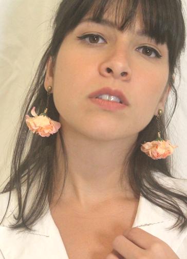 Brinco Flor Hortênsia Rosa
