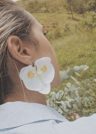 Brinco Orquídeas Brancas