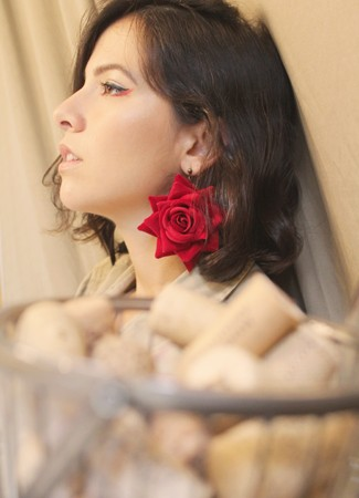Brinco Rosa Grande